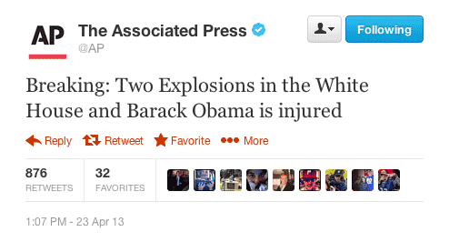 Breaking: Two Explosions in the White House and Barack Obama is injured.