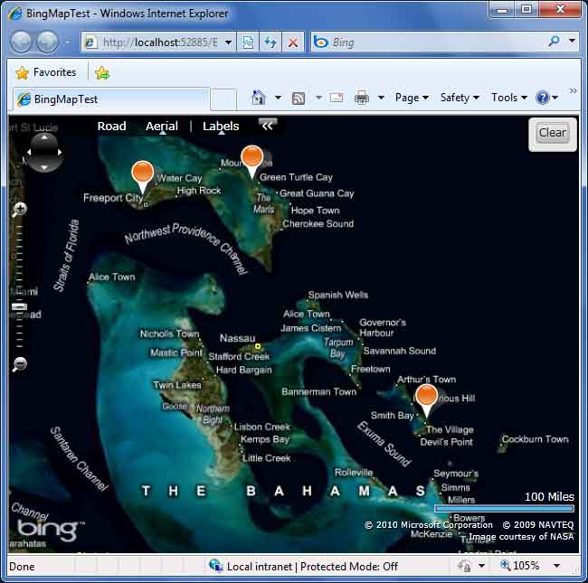 Creating Silverlight Microsoft Bing Maps with Editable Pushpins in