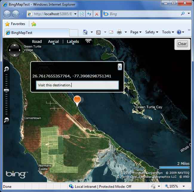 Silverlight Microsoft Bing Map Edit Mode for the pushpin