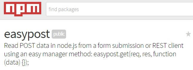 Read POST data in node.js from a form submission or REST client