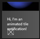 Windows 8 Live Tile Animated Peek Notification